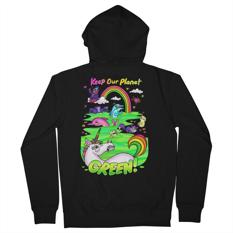 Keep Our Planet Green Men's Zip-Up Hoody by jublin's Artist Shop