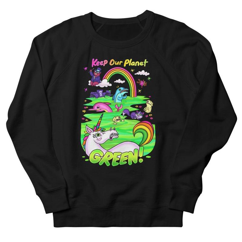 Keep Our Planet Green Men's Sweatshirt by jublin's Artist Shop