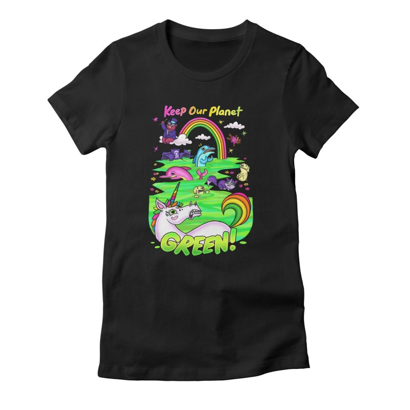Keep Our Planet Green Women's T-Shirt by jublin's Artist Shop
