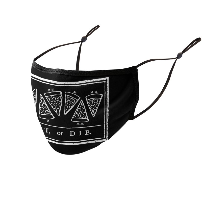 Eat or Die (on black) Accessories Face Mask by jublin's Artist Shop