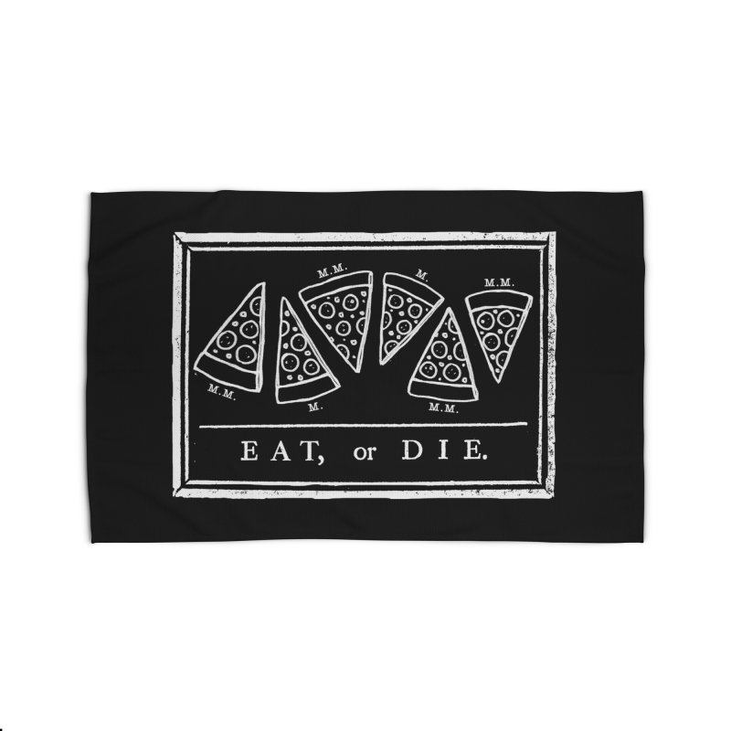 Eat or Die (white) Home Rug by jublin's Artist Shop
