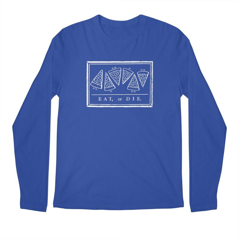 Eat or Die (white) Men's Longsleeve T-Shirt by jublin's Artist Shop