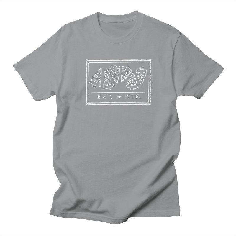Eat or Die (white) Men's T-shirt by jublin's Artist Shop