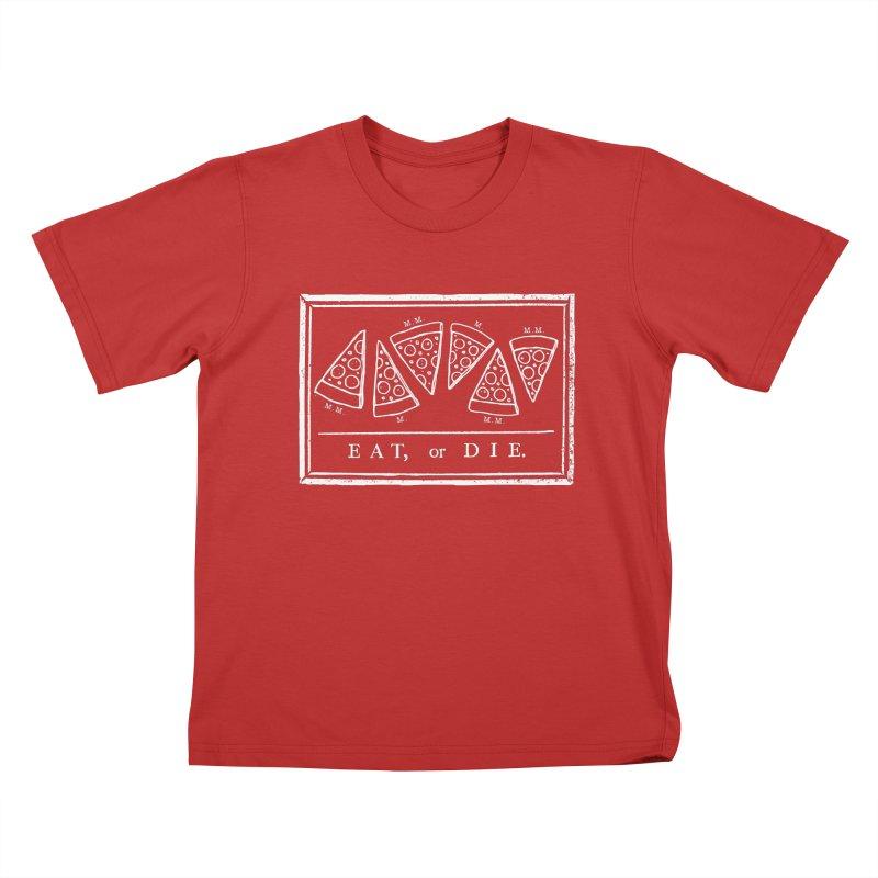 Eat or Die (white) Kids T-shirt by jublin's Artist Shop