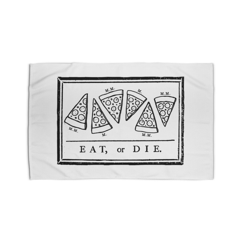 Eat or Die (black) Home Rug by jublin's Artist Shop
