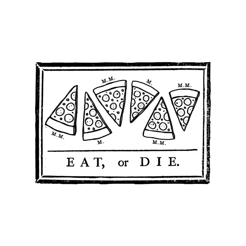 Eat or Die (black) Men's Baseball Triblend T-Shirt by jublin's Artist Shop