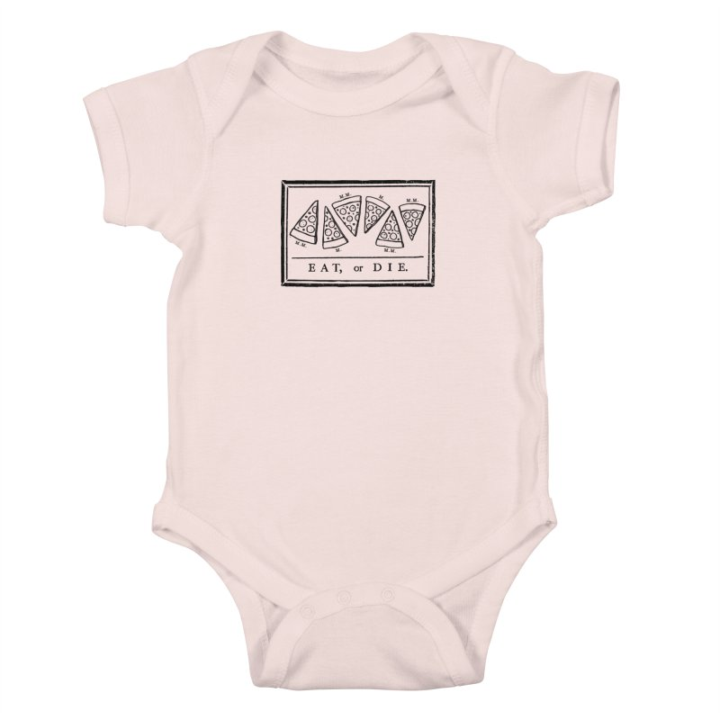 Eat or Die (black) Kids Baby Bodysuit by jublin's Artist Shop