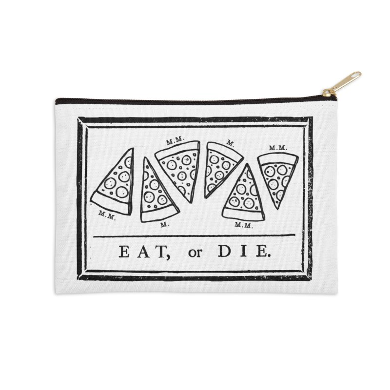Eat or Die (black) Accessories Zip Pouch by jublin's Artist Shop