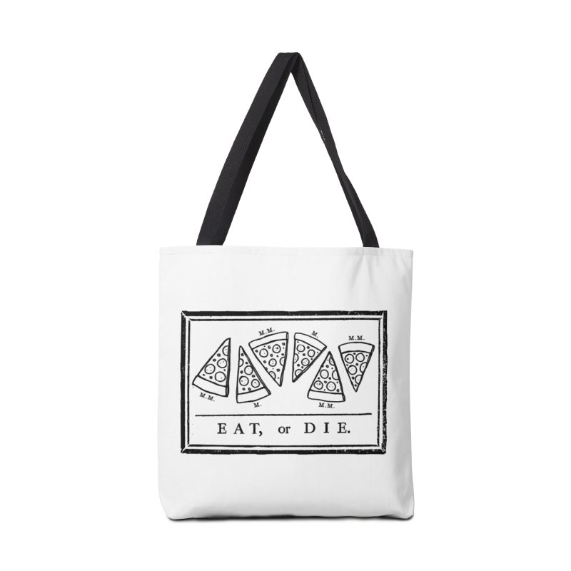 Eat or Die (black) Accessories Bag by jublin's Artist Shop