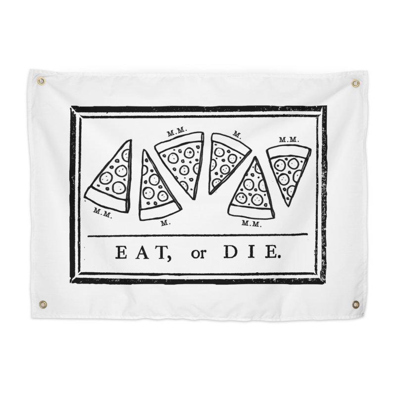 Eat or Die (black) Home Tapestry by jublin's Artist Shop