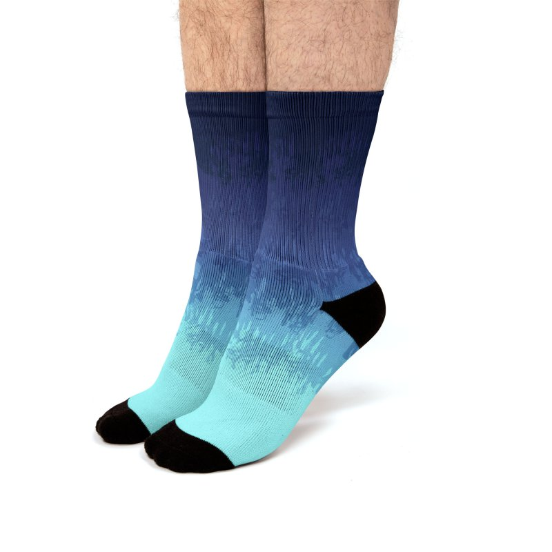 Cool Meltdown Men's Socks by jublin's Artist Shop