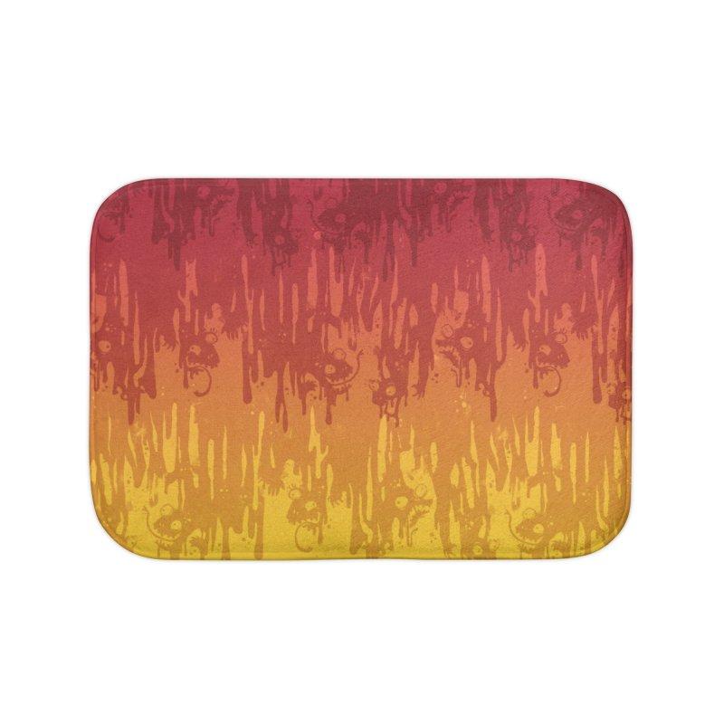 Hot Meltdown Home Bath Mat by jublin's Artist Shop