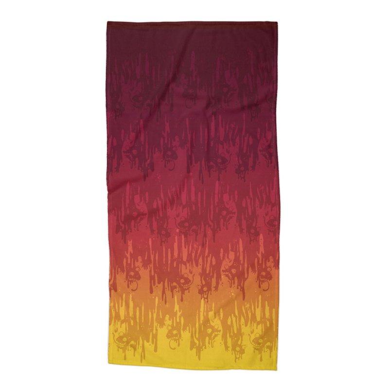 Hot Meltdown Accessories Beach Towel by jublin's Artist Shop