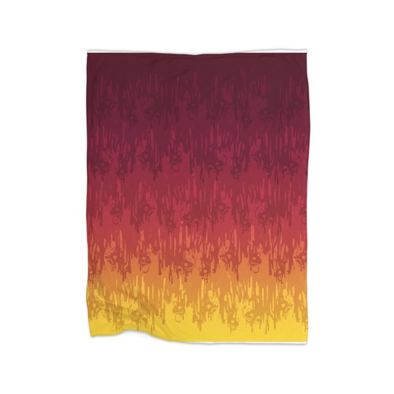 Hot Meltdown Home Blanket by jublin's Artist Shop