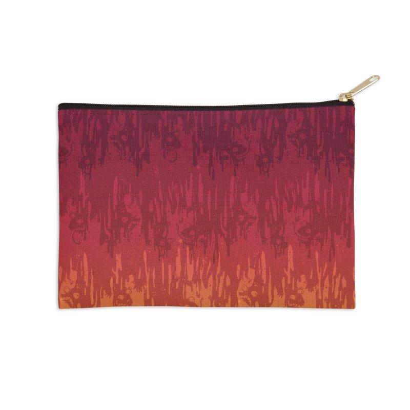 Hot Meltdown Accessories Zip Pouch by jublin's Artist Shop