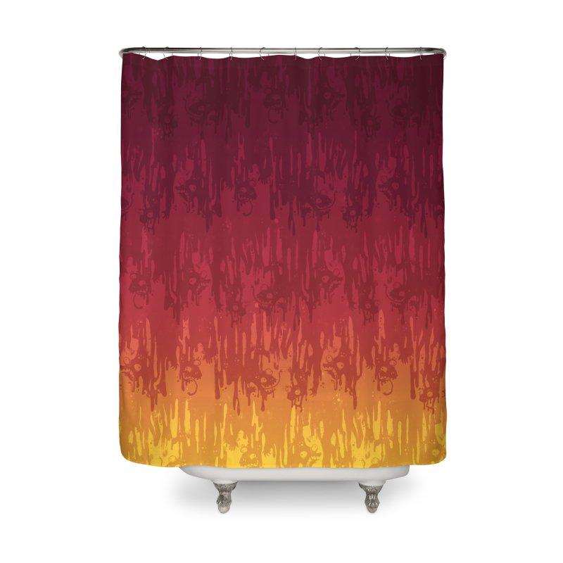 Hot Meltdown Home Shower Curtain by jublin's Artist Shop