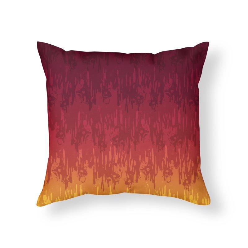 Hot Meltdown Home Throw Pillow by jublin's Artist Shop