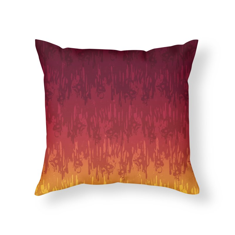 Hot Meltdown Home Throw Pillow by jublin's Artist Shop