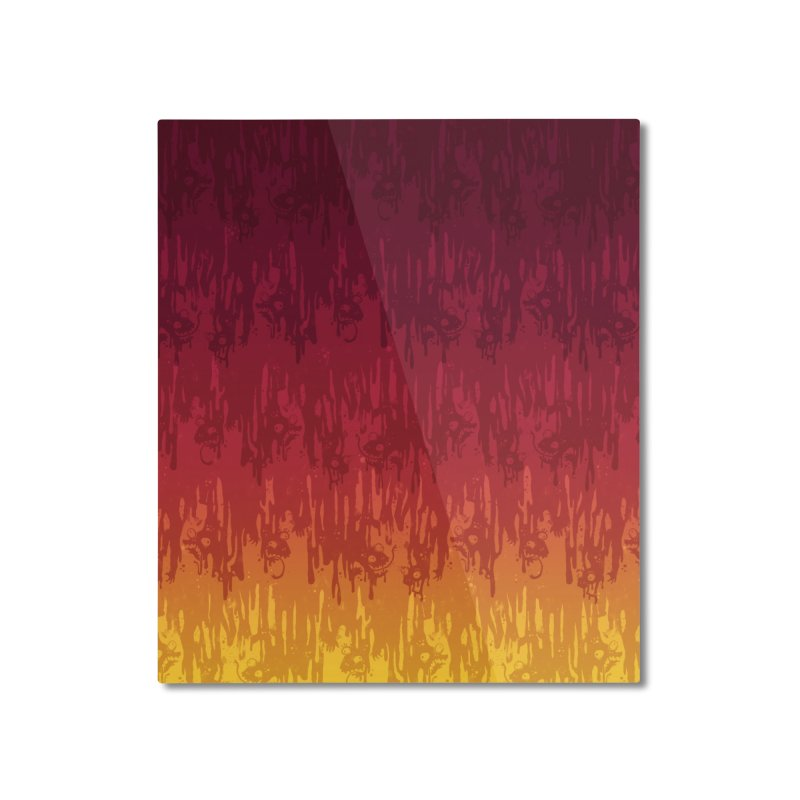 Hot Meltdown Home Mounted Aluminum Print by jublin's Artist Shop