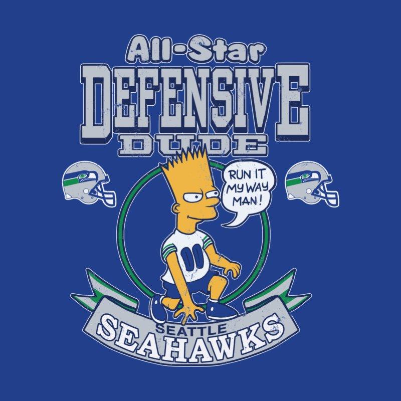 Seattle Defensive Dude Men's T-Shirt by jublin's Artist Shop