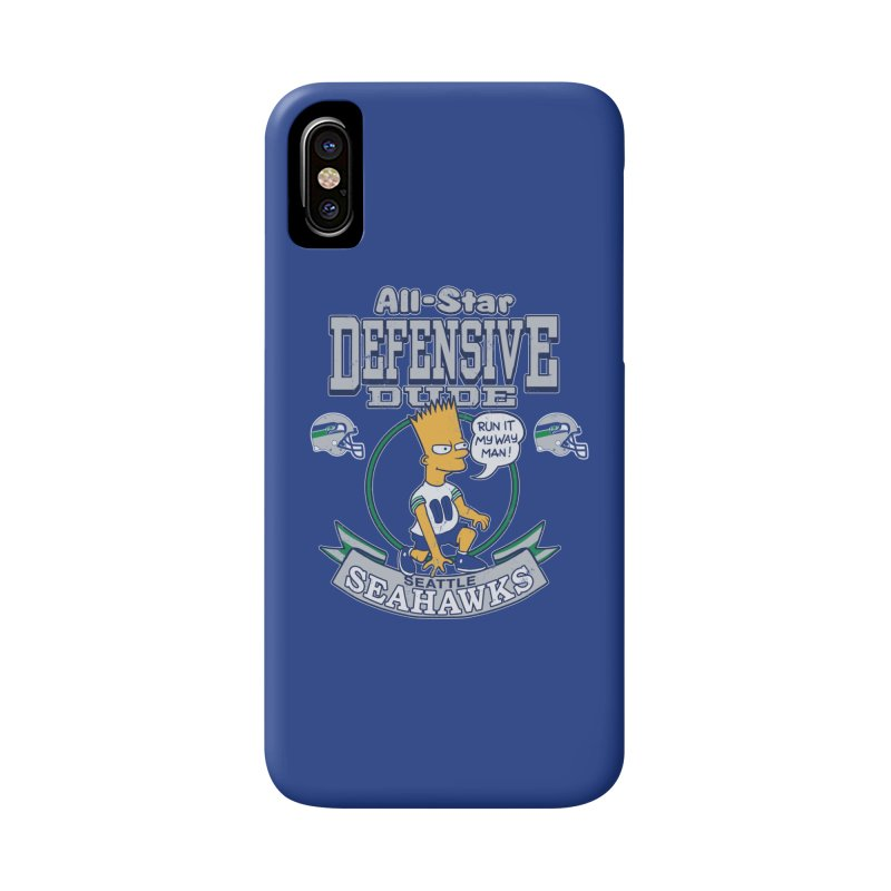 Seattle Defensive Dude Accessories Phone Case by jublin's Artist Shop
