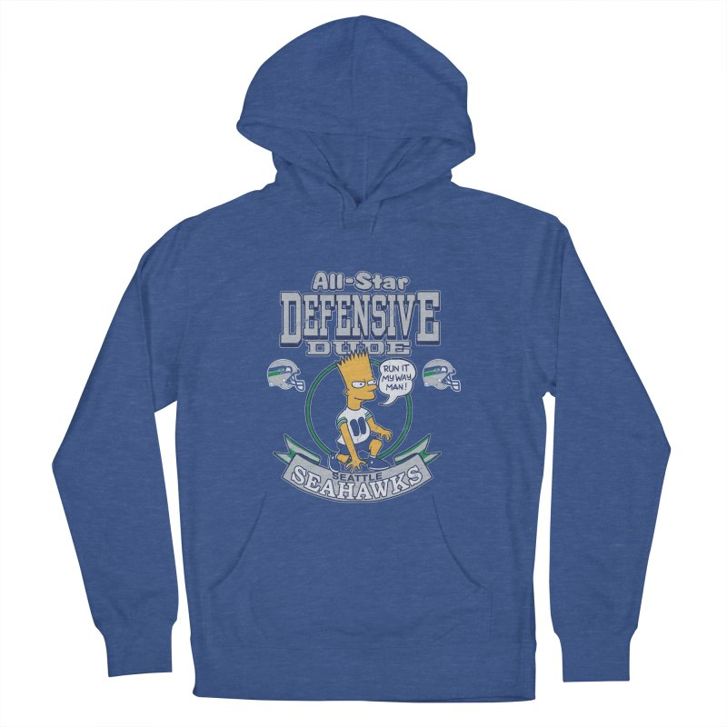 Seattle Defensive Dude Men's Pullover Hoody by jublin's Artist Shop
