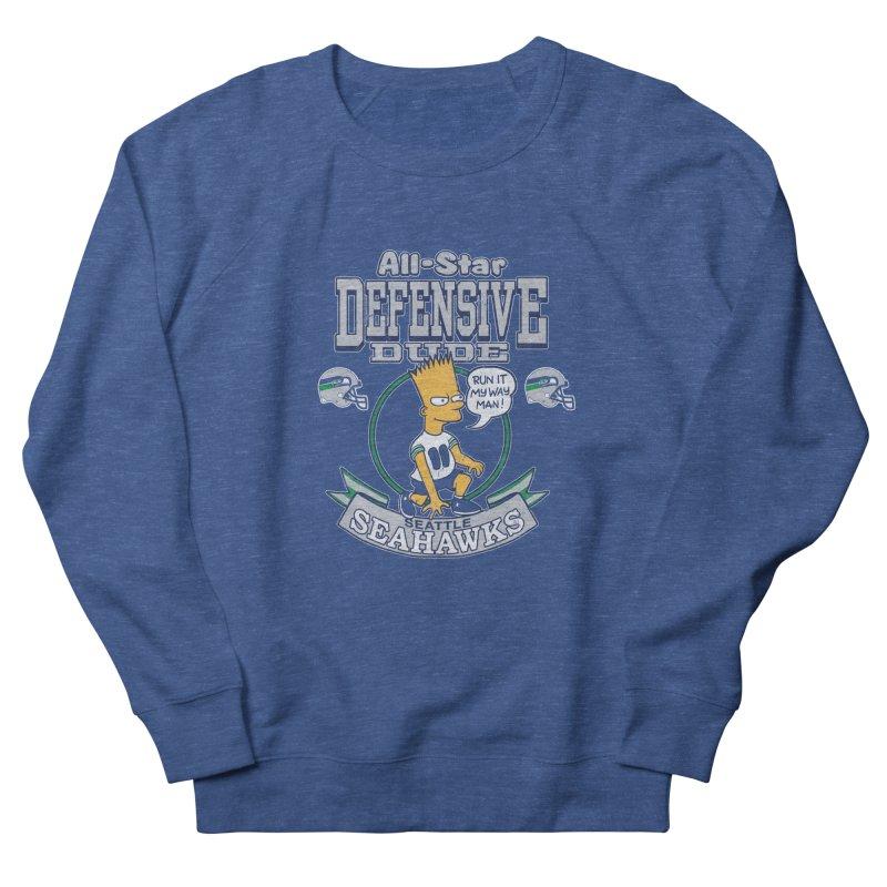 Seattle Defensive Dude Women's French Terry Sweatshirt by jublin's Artist Shop