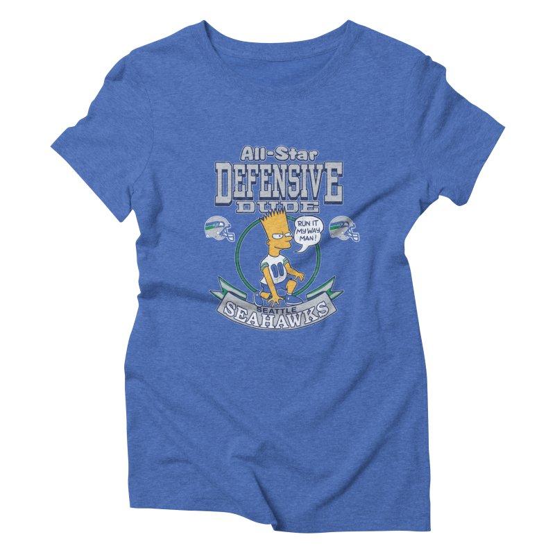 Seattle Defensive Dude Women's Triblend T-Shirt by jublin's Artist Shop