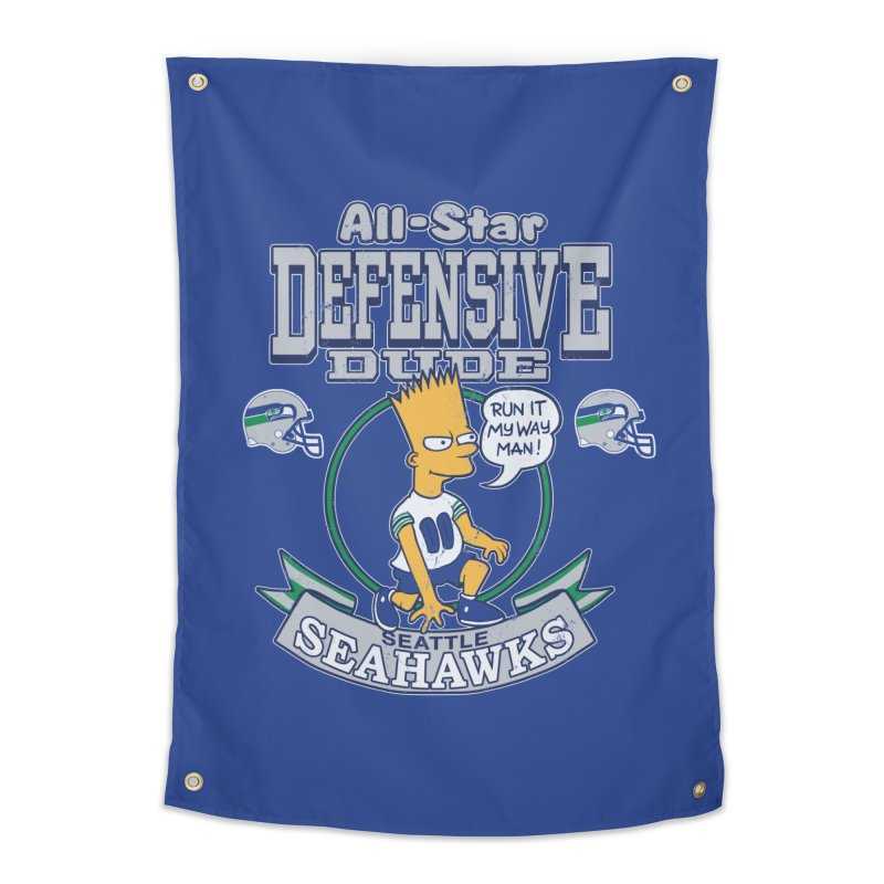 Seattle Defensive Dude Home Tapestry by jublin's Artist Shop