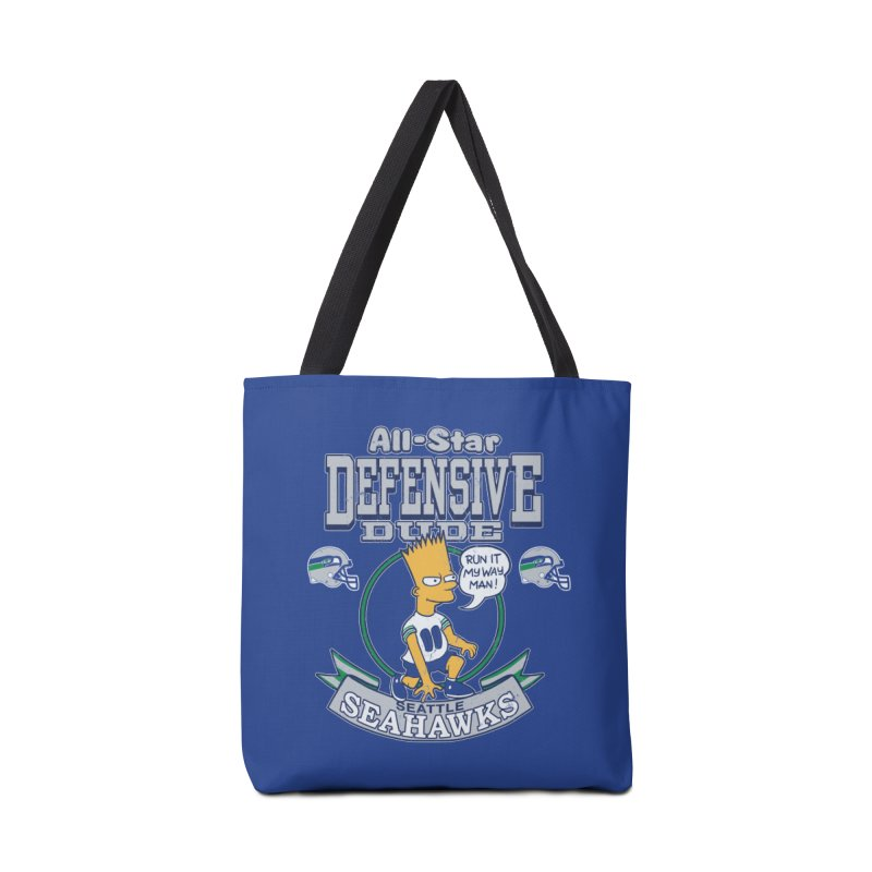 Seattle Defensive Dude Accessories Bag by jublin's Artist Shop