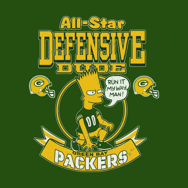Green Bay Defensive Dude by jublin's Artist Shop