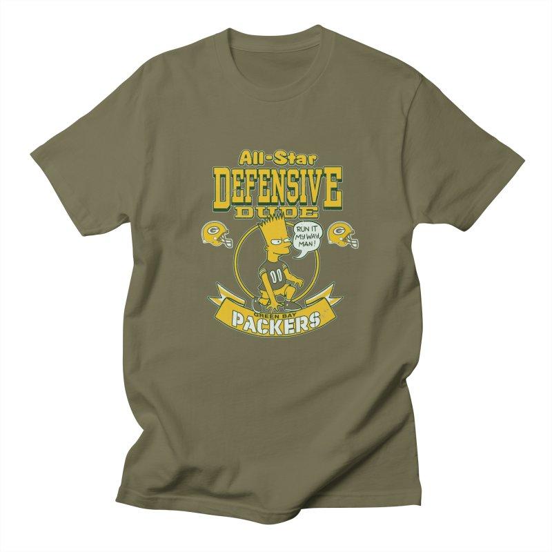 Green Bay Defensive Dude Women's Regular Unisex T-Shirt by jublin's Artist Shop
