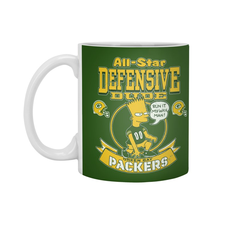Green Bay Defensive Dude Accessories Mug by jublin's Artist Shop