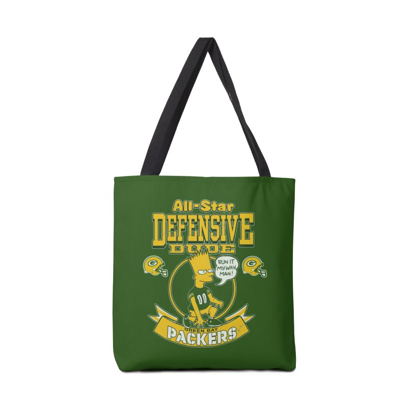 Green Bay Defensive Dude Accessories Bag by jublin's Artist Shop
