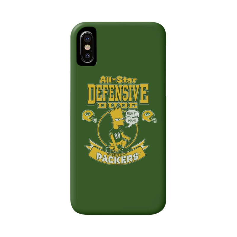 Green Bay Defensive Dude Accessories Phone Case by jublin's Artist Shop