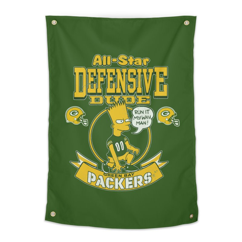 Green Bay Defensive Dude Home Tapestry by jublin's Artist Shop