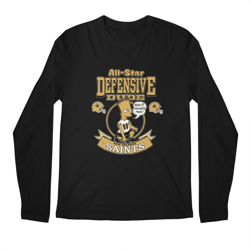 New Orleans Defensive Dude Men's Longsleeve T-Shirt by jublin's Artist Shop