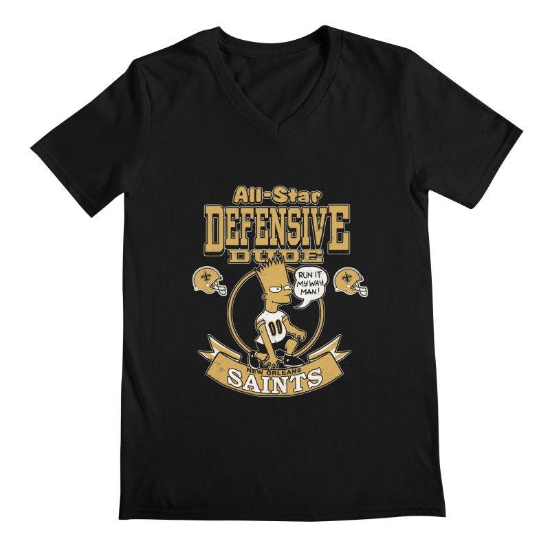 New Orleans Defensive Dude Men's V-Neck by jublin's Artist Shop