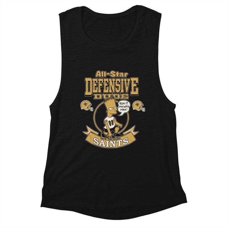 New Orleans Defensive Dude Women's Muscle Tank by jublin's Artist Shop