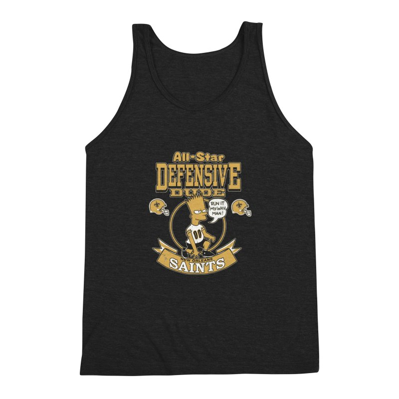 New Orleans Defensive Dude Men's Triblend Tank by jublin's Artist Shop