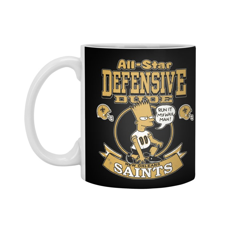 New Orleans Defensive Dude Accessories Standard Mug by jublin's Artist Shop