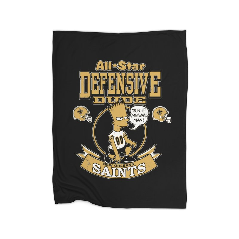 New Orleans Defensive Dude Home Fleece Blanket Blanket by jublin's Artist Shop