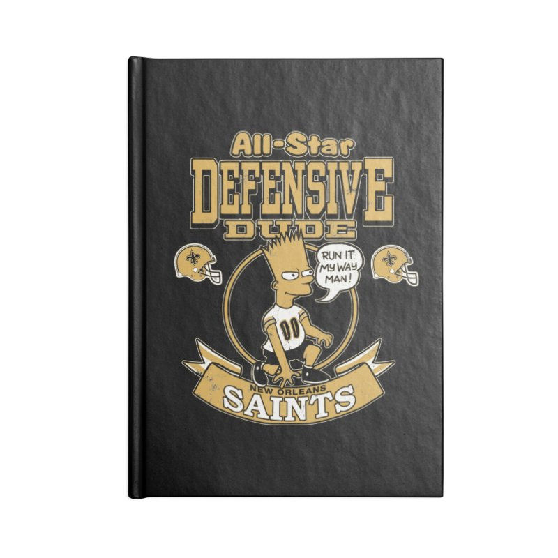 New Orleans Defensive Dude Accessories Notebook by jublin's Artist Shop