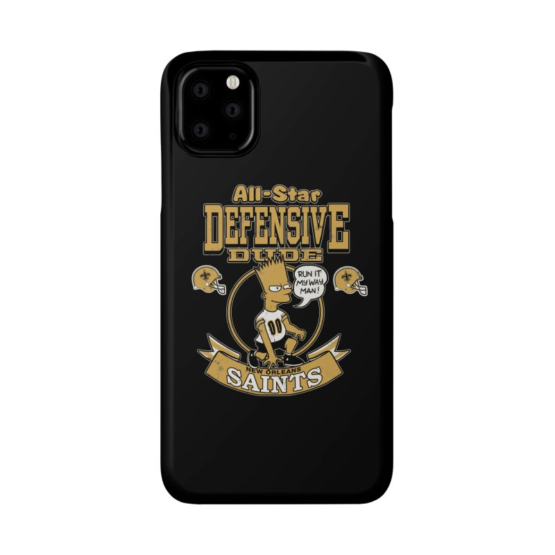 New Orleans Defensive Dude Accessories Phone Case by jublin's Artist Shop