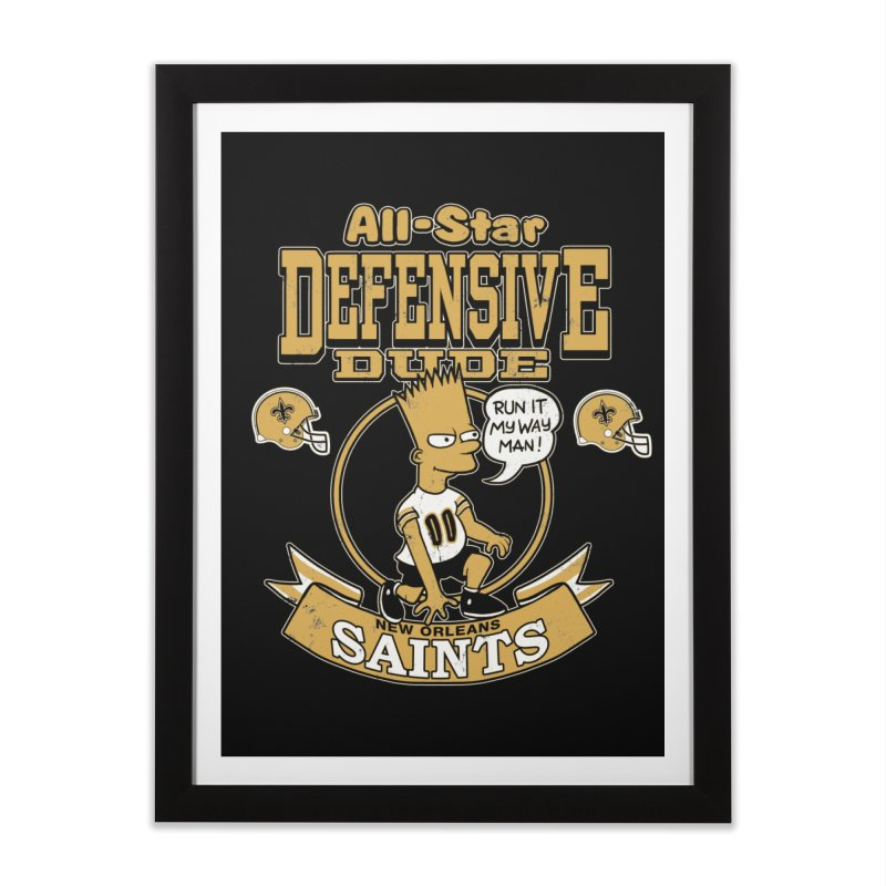 New Orleans Defensive Dude Home Framed Fine Art Print by jublin's Artist Shop