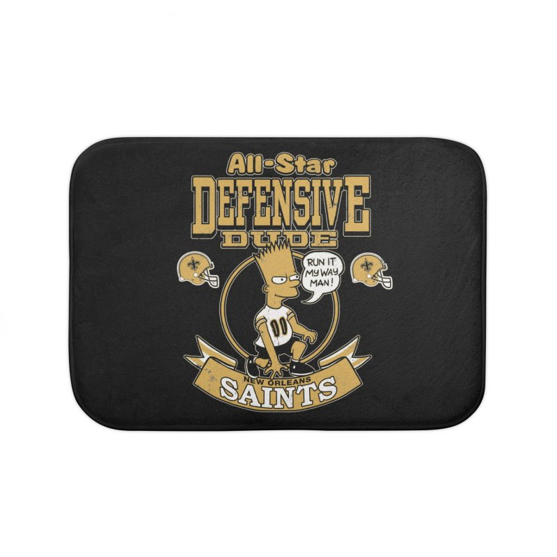 New Orleans Defensive Dude Home Bath Mat by jublin's Artist Shop