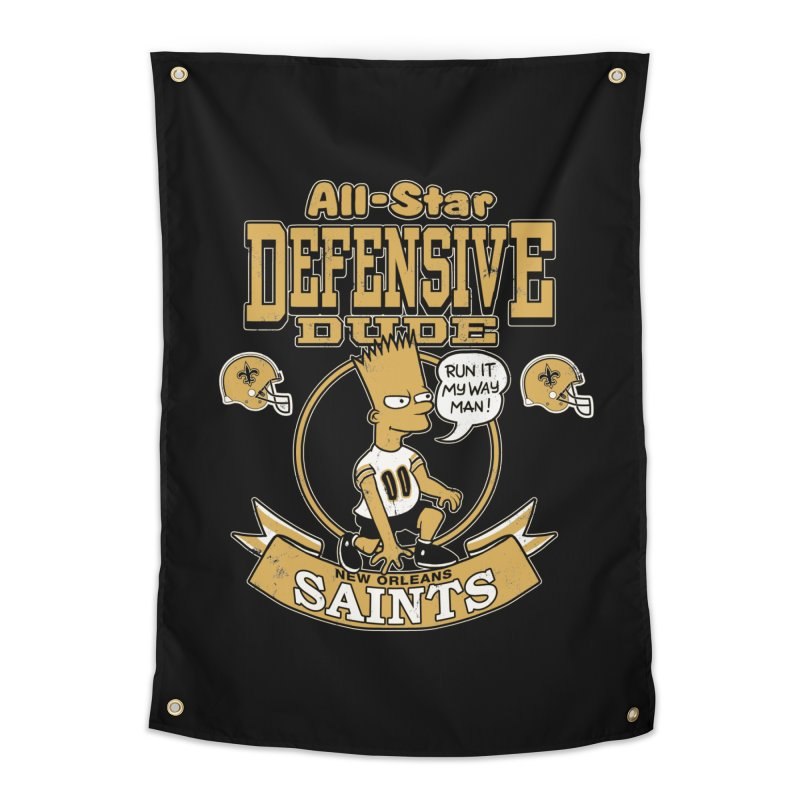 New Orleans Defensive Dude Home Tapestry by jublin's Artist Shop