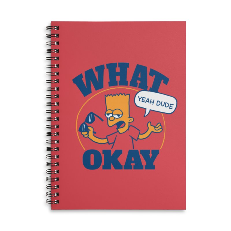 What Okay Accessories Notebook by jublin's Artist Shop