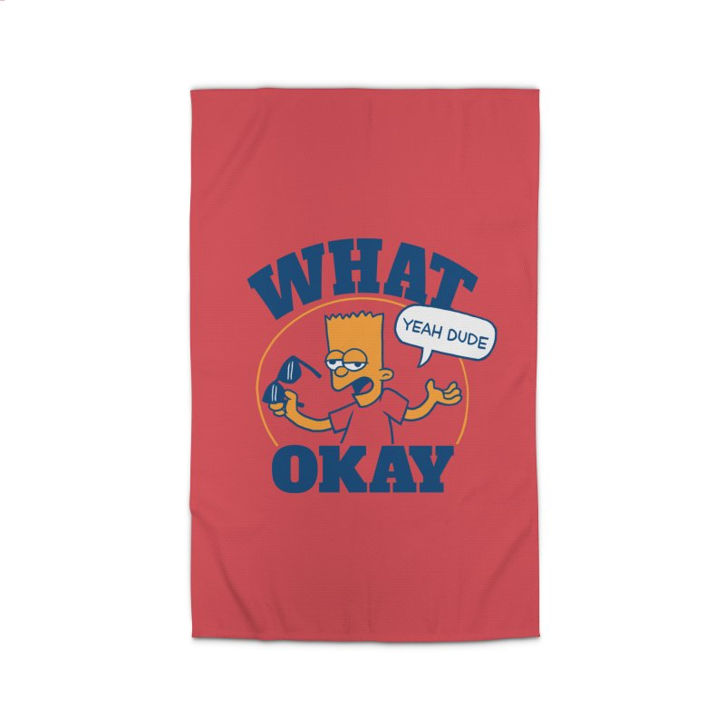 What Okay Home Rug by jublin's Artist Shop