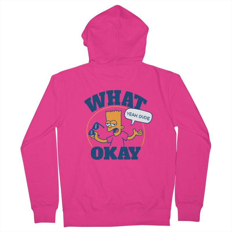 What Okay Men's French Terry Zip-Up Hoody by jublin's Artist Shop